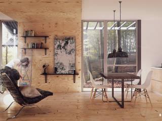 Minimalistische Wohnzimmer von BS ARQ Minimalistisch Holz Holznachbildung