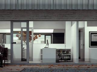 Balcon, Veranda & Terrasse minimalistes par BS ARQ Minimaliste