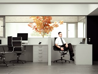 Estudio Bianchi + Faerman Arquitectos: Estudios y oficinas de estilo minimalista por BS ARQ