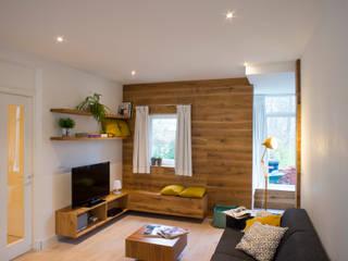 I and Y residency Moderne woonkamers van Diego Alonso designs Modern