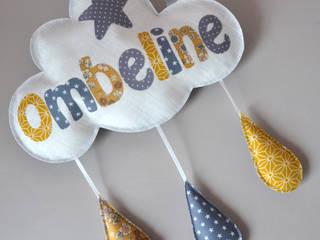 coussin personnalisé prénom en forme de nuage par Catherine Grasseau Éclectique