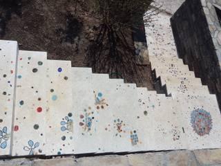 Gündogan / küçükbük Terrazzo zemin çalışması Camdal Akdeniz Bahçe Seramik