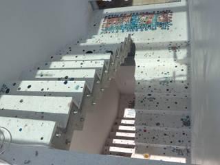 Gündogan / küçükbük Terrazzo zemin çalışması Camdal Akdeniz Koridor, Hol & Merdivenler Beton