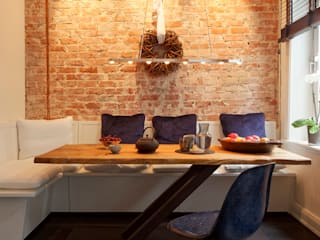 Dining room Rustic style dining room by homify Rustic Wood Wood effect