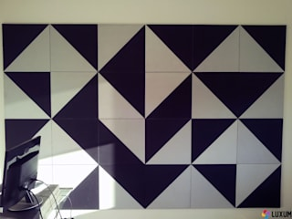 Mozaika wykonana z betonu architektonicznego Luxum Nowoczesny salon od Luxum Nowoczesny
