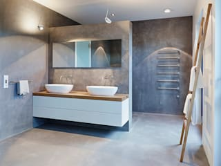Penthouse:  Badezimmer von HONEYandSPICE innenarchitektur + design