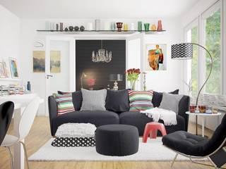 Vue interieur Salon moderne par L'Atelier 2630 Moderne