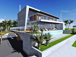 Casa na SC 401 Casas modernas por Mantovani e Rita Arquitetura Moderno