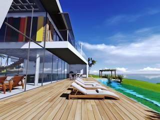 Casa na SC 401 Piscinas modernas por Mantovani e Rita Arquitetura Moderno