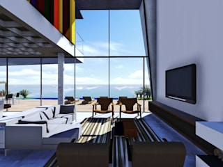 Casa na SC 401 Salas de estar modernas por Mantovani e Rita Arquitetura Moderno