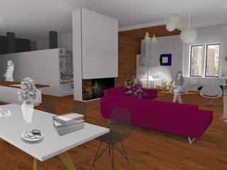 Living NYC Salones de estilo moderno de NoRD arquitectos Moderno