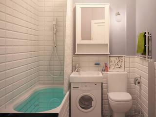 Квартира, 29 м.кв. Ванная комната в эклектичном стиле от Tatyana Pichugina Design Эклектичный