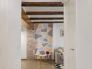 Vivienda Vigas de Madera Pasillos, vestíbulos y escaleras de estilo rústico de LLIBERÓS SALVADOR Arquitectos Rústico