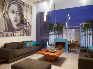 Livings de estilo  por arketipo-taller de arquitectura