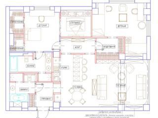 Эскиз планировочного решения от профессиональных дизайнеров от Дизайн студия Ольги Кондратовой