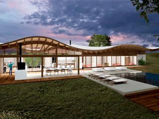 Casa 88º recebe 1º lugar no prêmio Saint-Gobain de Sustentabilidade.: Casas  por Atelier O'Reilly Architecture & Partners
