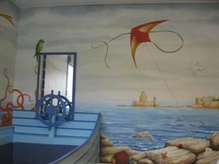 Décor peint pour une chambre de petit garçon par Marianne De Wil Éclectique