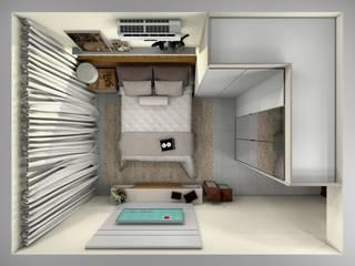 Quarto Casal por Aline Falci Arquitetura e Interiores Moderno