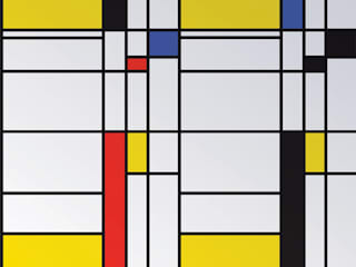 Mondrian custom magnetic wallpaper:   by MAGSCAPES LTD