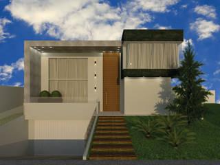 Residência MR Casas modernas por Aline Falci Arquitetura e Interiores Moderno