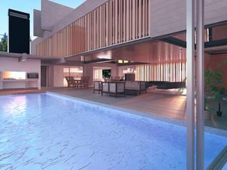 Piscina moderna di Mauricio Morra Arquitectos Moderno