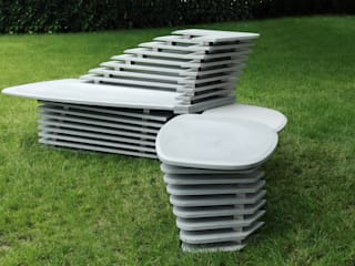 PURAPIETRA Garden Furniture Kuarsa Grey