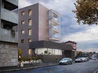 Complesso residenziale Casal Bertone Case moderne di Realistic Art Render Moderno