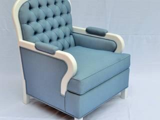 sillón capitonado de fabrica de ideas Ecléctico