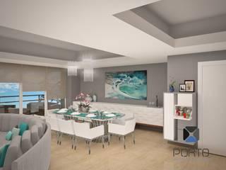 Salas de jantar ecléticas por PORTO Arquitectura + Diseño de Interiores Eclético