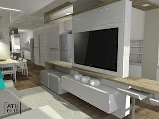 Ruang Keluarga oleh ATHeliê Arquitetura, Modern
