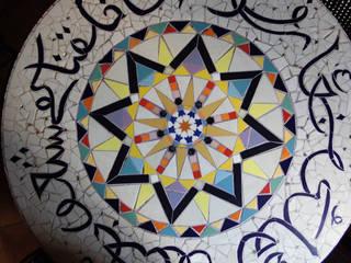 Plateaux de table en mosaïque (Pièces uniques) par CHRISTOU Artiste/mosaïste Éclectique