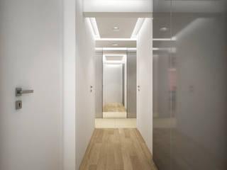 Apartament, pow. 95 m2, Waterlane Eklektyczny salon od 3miasto design Eklektyczny