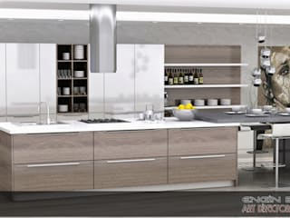 Modern Kitchen by EN+SA MİMARİ TASARIM DEKORASYON MOB.İNŞ.SAN. VE TİC .LTD. ŞTİ Modern