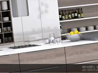 kalamer mutfak Modern Mutfak EN+SA MİMARİ TASARIM DEKORASYON MOB.İNŞ.SAN. VE TİC .LTD. ŞTİ Modern