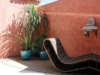 Rustic style garden by Carol Abumrad Arquitetura e Interiores Rustic