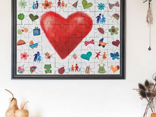 Hochzeits-Puzzle zum Selberbemalen - Bemalt:   von Gravado (LPZ Handelsgesellschaft mbH)
