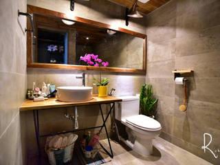 프렌치모던, 취향 저격의 40평 신혼집 인테리어 인더스트리얼 욕실 by 로하디자인 인더스트리얼