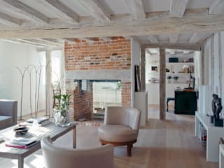 Living room at ​the Old Hall in Suffolk: modern Living room by Nash Baker Architects Ltd