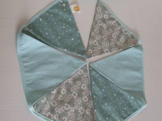 Guirlande de 6 fanions bleu/menthe:  de style  par K-RO line