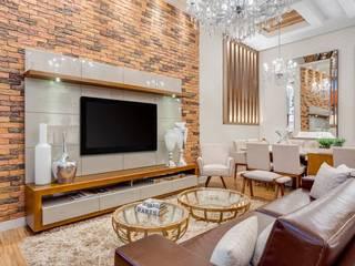 Ideatto Móveis e Decorações 现代客厅設計點子、靈感 & 圖片