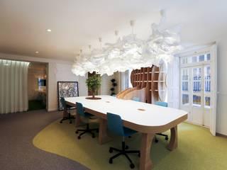 Oficina Everxio: Estudios y despachos de estilo  de Singularq Architecture Lab