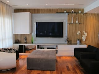 Salones de estilo  de Andrea Vasconcelos Arquitetura e Design, Moderno