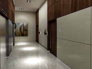 Treso İç Mimarlık Modern Corridor, Hallway and Staircase