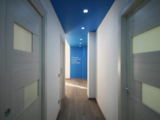 archielle Modern Corridor, Hallway and Staircase