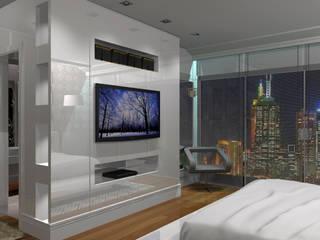 Ladrilho Hidráulico... no Dormitório???: Quartos  por Design4Up
