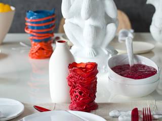 """Apto. Panamby - """"Decoração Organica"""": Salas de jantar  por AMMA PROJETOS,"""