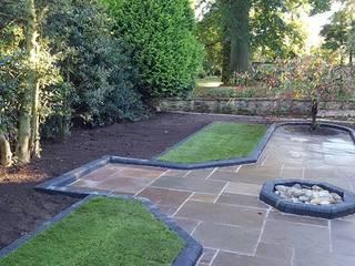 Rectory garden formal area by Mike Bradley Garden Design