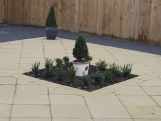 Contemporary front garden with clean lines by Mike Bradley Garden Design