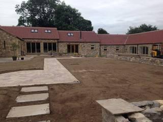 Barn conversion in village setting by Mike Bradley Garden Design