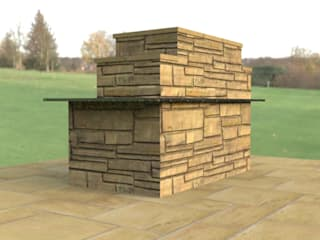 Promotional material for bespoke stone worker by Mike Bradley Garden Design